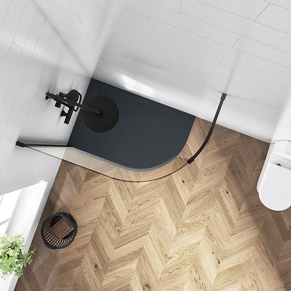 BE CURVED WETROOM PANEL