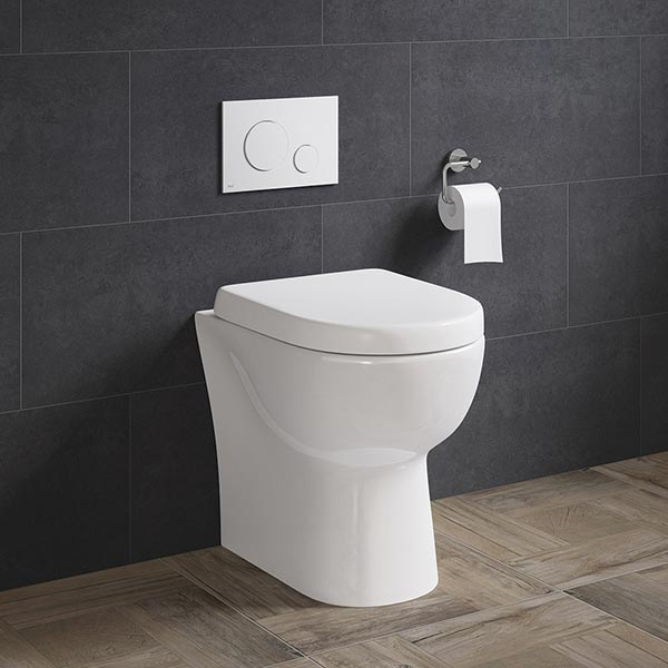 FINLEY BACK TO WALL TOILET PAN & D-SHAPE SOFT CLOSE SEAT