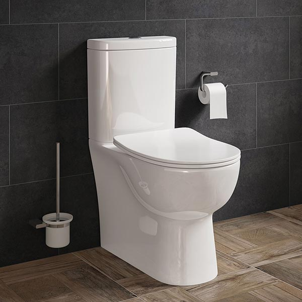 FINLEY FULLY ENCLOSED TOILET PAN, CISTERN & SLIM SOFT CLOSE SEAT